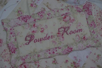 Rosie Boudoir POWDER ROOM PLAQUE